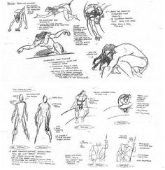 Model Sheets from Tarzan by Glen Keane