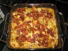 cheesy chicken potato bacon casserole