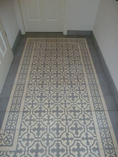 Casa:1 Zementfliesen - schlicht und schön im Korridor