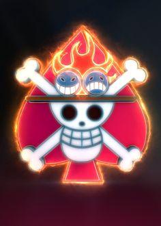 3D Ace's Flag Emblem. (modeling, post-production, edition Ace One Piece, One Piece Anime, One Piece Logo, One Piece Tattoos, One Piece Luffy, Anime One, Manga Anime, Logo Manga, Portgas Ace