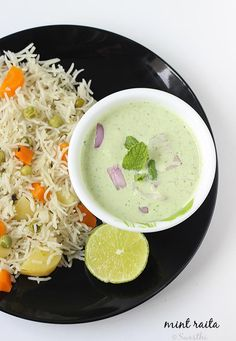 mint raita recipe, one of the healthiest and most refreshing raitas to accompany biryani and pulao. Mildly flavored with spice powders, mint and yogurt