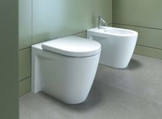 Vaso e bidet a terra Duravit Starck2. #arredobagno #homedesign #bathroom #toilet #wc #sanitaribagno #duravit