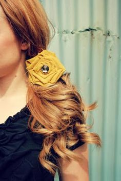 no-sew fabric flower brooch and hair clip tutorial