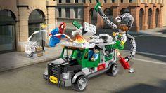 Spiderman vs. Doctor Octopus robbing the bank - Marvel Super Heroes LEGO.com