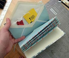 "DIY Envelope Book. Good for storing ticket stubs and other special ""scraps"""