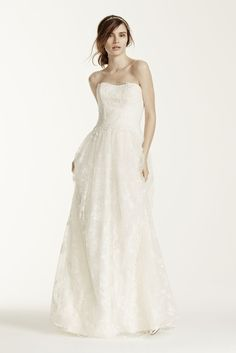 Novelty Melissa Sweet Wedding Dress with Floral Detail - Ivory, 12