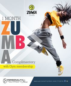 1 Month Zumba Complimentary With #Gym Membership www.personalityikon.com #salon #hair #kanpur #hairstylist #women #makeup #beauty