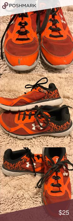 Under Armor Boys Black Orange Boys Tennis Shoes Under Armor Boys Black Orange Boys Tennis Shoes Size 6 1/2 Gently Worn Excellent Condition Under Armour Shoes Sneakers