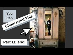 Create a Chalk Paint Blending effect using color meshing technique for an Old Vintage look on this antique Armoir using Annie Sloan Chalk Paint! Chalk Paint Brushes, Using Chalk Paint, Chalk Paint Projects, Annie Sloan Painted Furniture, Chalk Paint Furniture, Annie Sloan Chalk Paint, Furniture Cleaner, Tape Painting, Tights