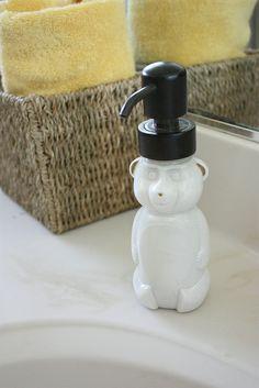 Honey bear soap dispenser