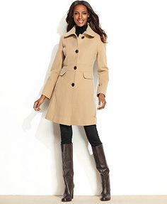 Kenneth Cole Reaction Coat, Wool-Blend Seamed Walker- I want this coat!