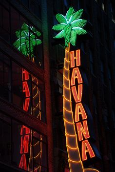 havanacoconut by john fullard, NYC The Smiths, Retro Signage, Pompe A Essence, Neon Moon, Neon Words, Sign Lighting, Club Lighting, Vintage Neon Signs, Neon Aesthetic