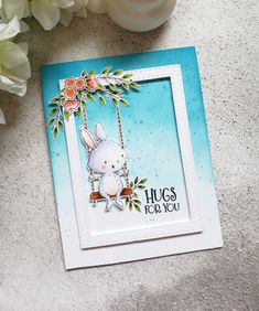 Rowena Miniaci - April and Florals Card