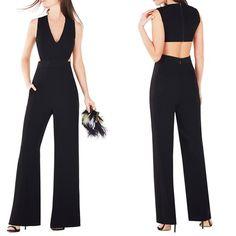 BCBGMAXAZRIA Malgosia Cutout Ponte Jumpsuit nmycloset.com #fashion #womenfashion #romper #jumpsuit