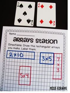 grade math centers and games to teach arrays and repeated addition or even to introduce multiplication in fun ways Lots of ideas for lessons students love on this sit. Maths Guidés, Teaching Multiplication, Math Classroom, Fun Math, Math Activities, Math Fractions, Kindergarten Math, Multiplication Worksheets, Math 2