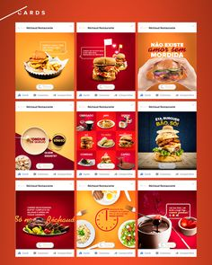Cards produzidos para as redes sociais do Restaurante Réchaud no ano de 2017.