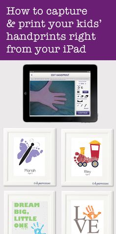 WOW!! A new app makes it simple to digitally capture those tiny fingers and toes, with zero mess.