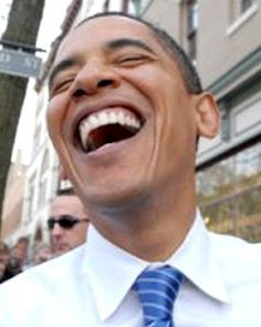 President Obama can also enjoy a good laugh!