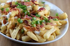 Chips with bacon slice