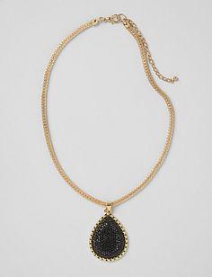 Black Caviar Bead Necklace | Dressbarn