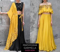 Designer Tunics - Designer Tunics by Top Indian Designers Online Navy Skirt Outfit, Skirt Outfits, Lehnga Dress, Lehenga, Sarees, Indian Dresses, Indian Outfits, Mehndi Outfit, Cape Gown