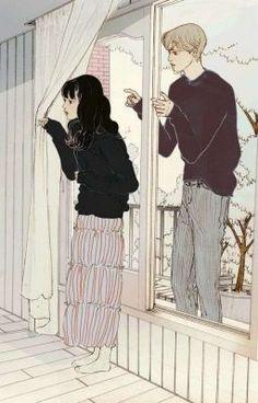 Couple Illustration, Illustration Art, Anime Art Girl, Manga Art, Aesthetic Art, Aesthetic Anime, Animation, Art Sketches, Art Drawings
