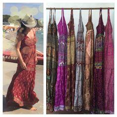 BOHO DRESS, mix SILK, bohemian dress, maxi dress, long dress, sleeveless dress, GYPSIe DRESs, fashion dress