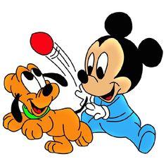 Disney Pluto The Dog Cartoon Clip Art Images On A Transparent Background Baby Mickey Mouse, Mickey Mouse Y Amigos, Mickey Mouse Cartoon, Mickey Mouse And Friends, Baby Cartoon, Cartoon Clip, Pluto Disney, Retro Disney, Disney Art