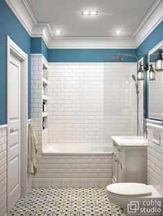 A small bathroom can be stylish, practical and, with the right know-how, space-efficient. Take a look at our best small bathroom design ideas to inspire you to. Best Small Bathrooms Decor and Design Ideas Half Bathroom Decor, Bathroom Design Small, Bathroom Interior Design, Home Interior, Modern Bathroom, Bathrooms Decor, Country Bathrooms, Budget Bathroom, Master Bathroom