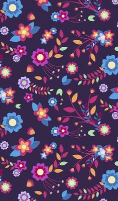 Pattern discovered by 𝐆 𝐄 𝐘 𝐀 𝐒 𝐇 𝐕 𝐄 𝐂 𝐎 𝐕 𝐀 👣 on we heart it Vintage Flowers Wallpaper, Fall Wallpaper, Tumblr Wallpaper, Flower Wallpaper, Pattern Wallpaper, Phone Backgrounds, Wallpaper Backgrounds, Iphone Wallpapers, Multi Colored Flowers