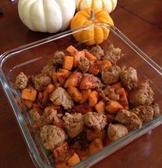 Easy Paleo Dinner Italian Sausage and Sweet Potato