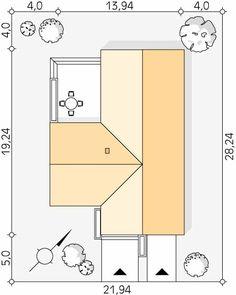 Cytrus 2 projekt domu - Jesteśmy AUTOREM - DOMY w Stylu House Plans, House Design, How To Plan, House Floor Plans, Architecture Design, Home Design, Home Plans, Design Homes