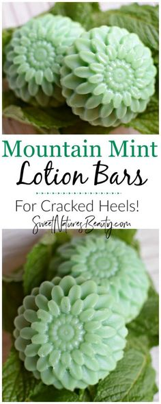 These Mountain Mint Lotion Bars are great for dry feet and cracked heels! With a mint lotion bar aroma you'll feel like you're at a spa. Make the Mountain Mint Lotion Bars to naturally hydrate dry skin.