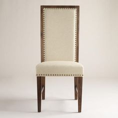 Dining Room Chairs...One of my favorite discoveries at WorldMarket.com: Greyson Chairs with Nailheads, Set of 2