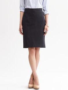 Navy seamed pencil skirt   Banana Republic $69.50 2