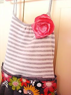 part 2 of tank dress + how to make flower