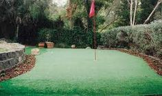 Image result for golf greens in backyard