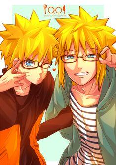 NARUTO, Namikaze Minato, Uzumaki Naruto, Father And Son, Father