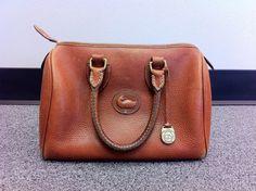 Vintage Dooney and Bourke cognac leather doctor bag. AKA my dream bag.