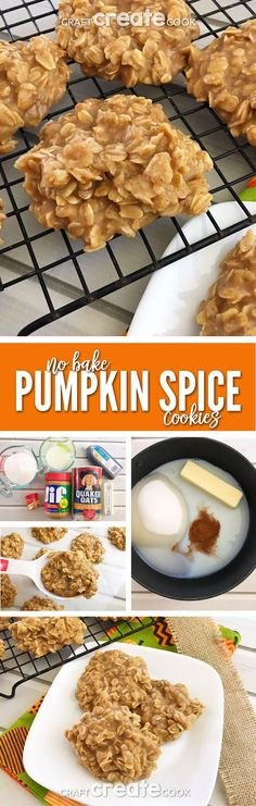 Get a fast pumpkin fix with these amazing Pumpkin Spice No Bake Cookies!  via @CraftCreatCook1