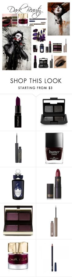 """""""Beauty After Dark"""" by fashionmadness13 ❤ liked on Polyvore featuring beauty, Smashbox, NARS Cosmetics, Elizabeth Arden, Butter London, PENHALIGON'S, Lipstick Queen, Kevyn Aucoin, Urban Decay and Smith & Cult"""