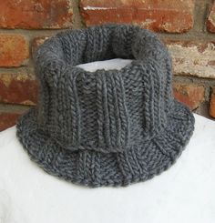 Men's Ribbed Cowl - Available in Several Colors - by BonArtsStudio