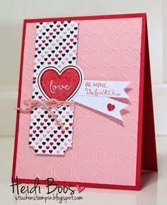 Paper Pumpkin, Jan 2015 - Filled with Love - SU +  Happy Hearts EF