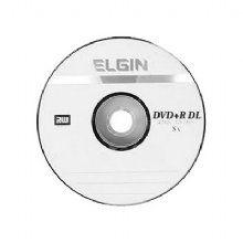 Dvd Dual Layer Elgin, Dvd+R 8,5gb 8x - Valor unitário de R$ 2,17 pacote com 50 unidades