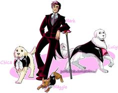 Markiplier and the doggie gang by JudithEstelle on DeviantArt