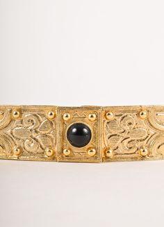 Gold Toned Stretch Belt