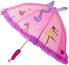 Kidorable Girls 2-6X Ballet Umbrellas