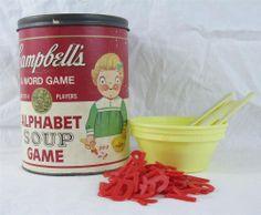 Vintage Campbells Soup Alphabet Soup Game