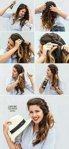 Peinado con trenza
