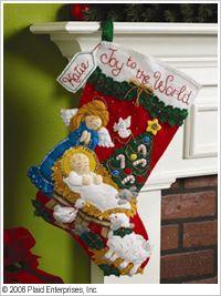 Bucilla ® Seasonal - Felt - Stocking Kits - Nativity Baby. #bucilla #stockings #christmas #plaidcrafts